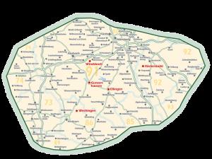 Gebietskarte 2016
