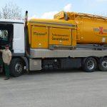 eine unserer fahrbaren Mahl- und Mischanlagen - Qualitätstrocknung Nordbayern eG
